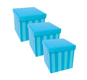 Gift boxes. Blue present boxes Stock Image