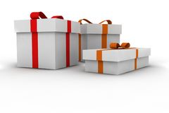 Gift boxes. 3d isolated illustration Stock Image