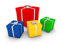 Gift boxes. Rendering of various gift boxes Stock Photos
