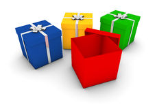 Gift boxes Stock Image