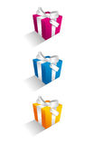 Gift Boxes. A set of decorative gift boxes Stock Photos