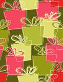 Gift boxes. Seamless pattern in retro style Royalty Free Stock Image