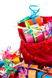 Gift Boxes And Red Bag Stock Image