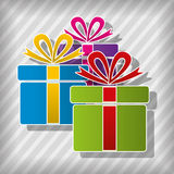 Vector gift boxes Royalty Free Stock Photography