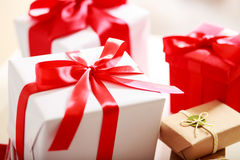 Gift boxes - assorted Stock Photos