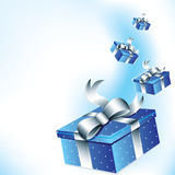 Gift boxes background Stock Images