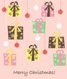 Gift boxes background Stock Photography