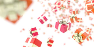 Gift boxes background. Special events and celebrations concepts, original 3d illustration royalty free illustration