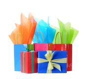 Gift boxes and bags Stock Image