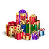 Gift Boxes, Birthaday, Christmas, Holiday Presents Stock Images