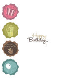 Gift boxes birthday. Vector Illustration of gift boxes Royalty Free Stock Image