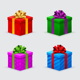 Gift boxes for a birthday or new year Royalty Free Stock Images