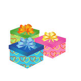 Gift boxes with bow Royalty Free Stock Photography