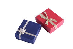 Gift Boxes with Bows. Two gift boxes with ribbons and bows Royalty Free Stock Photos