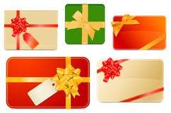 Gift boxes and cards Royalty Free Stock Image