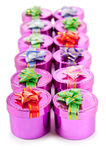 Gift boxes in celebration concept Royalty Free Stock Photography