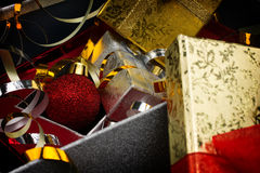 Gift boxes with christmas decoration Stock Photography