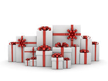 Gift Boxes,Christmas Gifts(elevation view) Stock Images