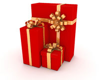 Gift Boxes,Christmas Gifts(Red) Stock Image