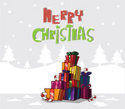 Gift boxes. Christmas tree Royalty Free Stock Photography