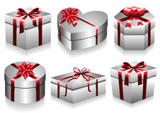 Gift Boxes Collection Stock Photo