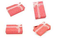 Gift boxes collection Royalty Free Stock Photo