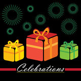 Gift boxes. Collection of colourful gift boxes to celebrate festive occassions happily Stock Photos