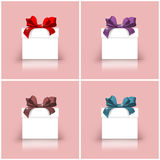 Gift boxes with colorful ribbons Royalty Free Stock Photos