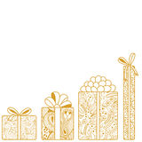 Gift boxes composition Royalty Free Stock Photography