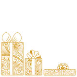 Gift boxes composition Royalty Free Stock Photo