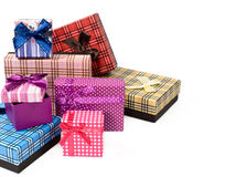 Gift boxes with copy space Royalty Free Stock Image