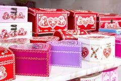 Gift boxes Croatian souvenir Stock Photography