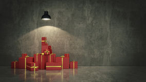 Gift boxes, 3d illustration Royalty Free Stock Photography