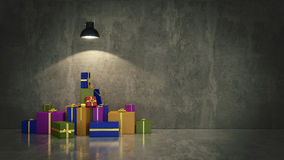 Gift boxes, 3d illustration Stock Image