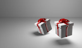 2 gift boxes 3d render. Graphic Vector Illustration
