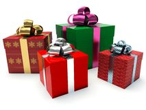 Gift boxes. 3d render illustration Royalty Free Stock Images