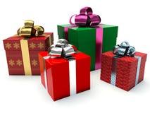Gift boxes. 3d render illustration Stock Illustration