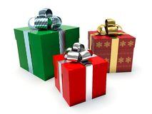 Gift boxes. 3d render illustration Royalty Free Stock Image