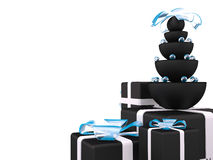 Gift boxes, 3D Royalty Free Stock Photo