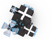 Gift boxes, 3D Royalty Free Stock Photos