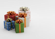 Gift boxes. In Different Colors Box Royalty Free Stock Photos