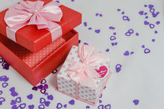 Gift boxes favorite Royalty Free Stock Photo