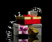 Gift boxes Stock Photo