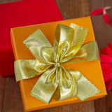 Gift boxes with flower Royalty Free Stock Photo