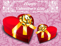 Gift boxes in the form of heart . Valentine's Day. Stock Image