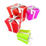 The Gift boxes. 3d illustration vector illustration