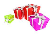 The Gift boxes. 3d illustration stock illustration
