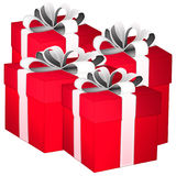 Gift boxes. gift boxes with ribbons on white background Stock Image