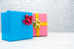 Gift boxes Stock Photo