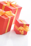 Gift boxes with gold stock photography